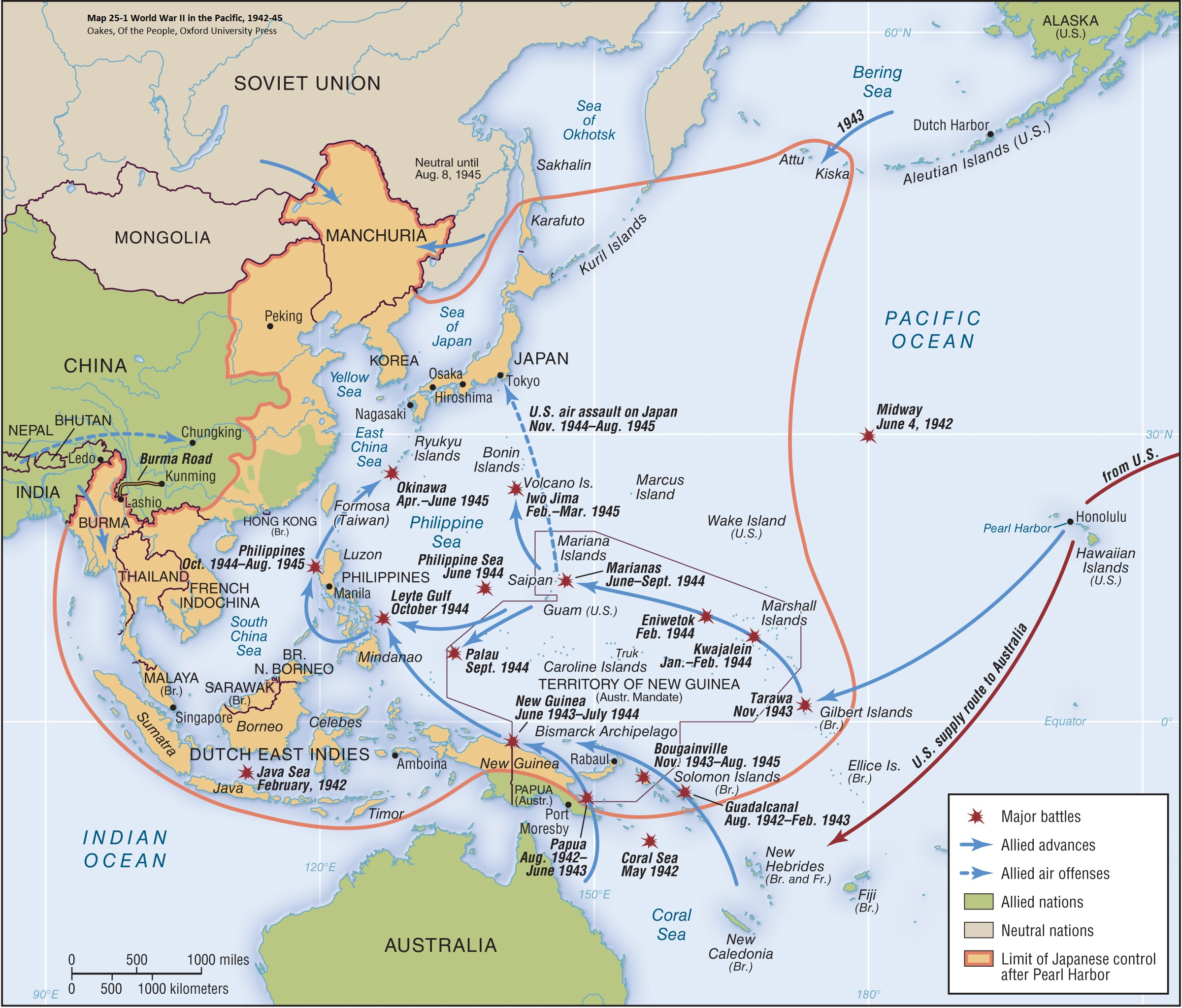 War In The Pacific Maps