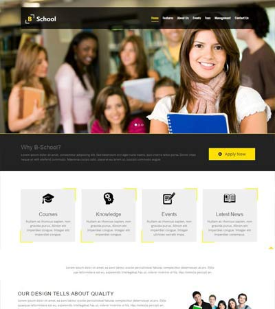 Educational Website Template Free Download Webthemez