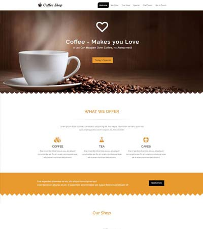 Coffee Shop Website Free Download WebThemez