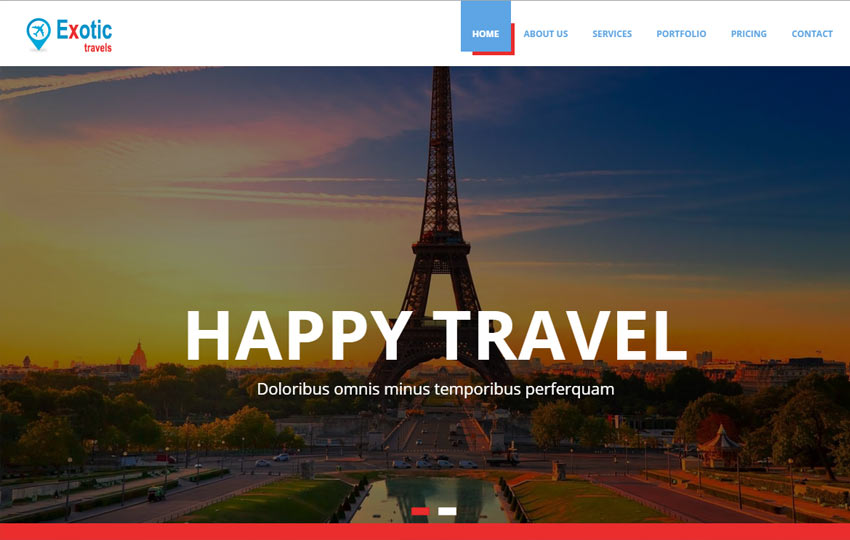 Travels Bootstrap Template Free Download Webthemez