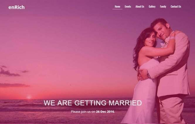 Free Wedding Website Template By The Webthemez