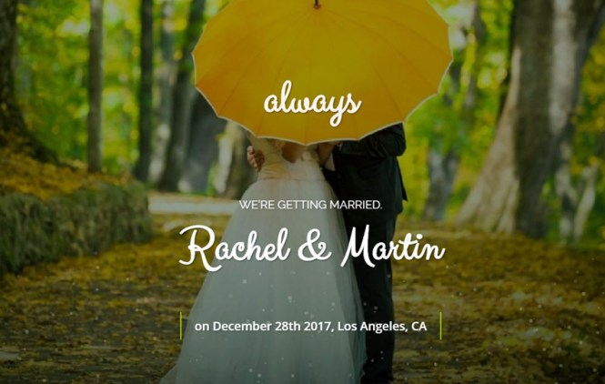 Html Bootstrap Wedding Website Template
