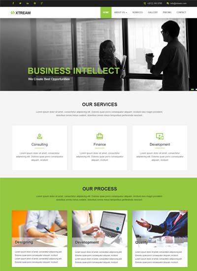 Corporate Responsive Website Template Free Download