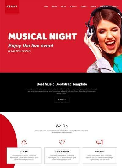 cv website design template