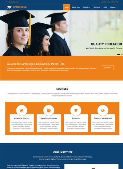 Educational Website Themes And Templates Free Download