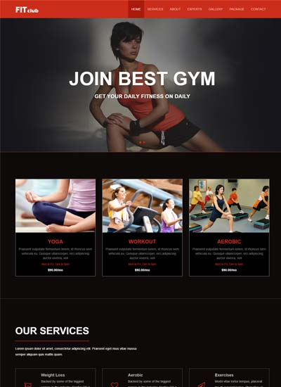 Latest Fitness Free Website Template Using Html Bootstrap