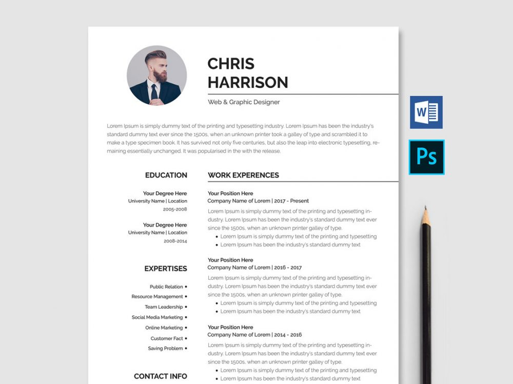 resume template free download word 2019