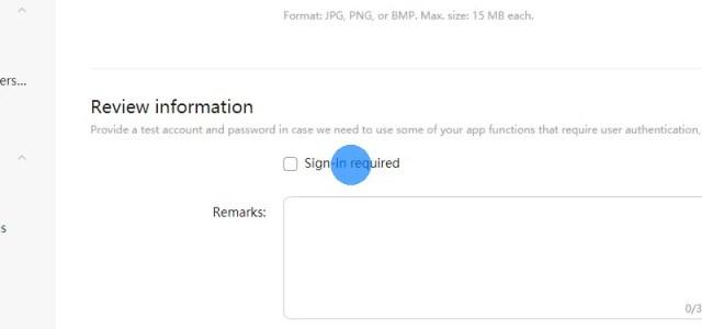 Wenn sich der Benutzer auf Ihrer Website anmelden muss, um die meisten Funktionen nutzen zu können, stellen Sie den Prüfern der App ein Testkonto zur Verfügung.