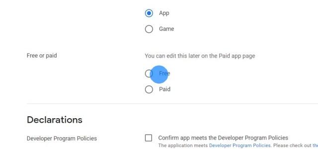 Entscheide, ob der Download deiner App kostenlos oder kostenpflichtig sein soll.