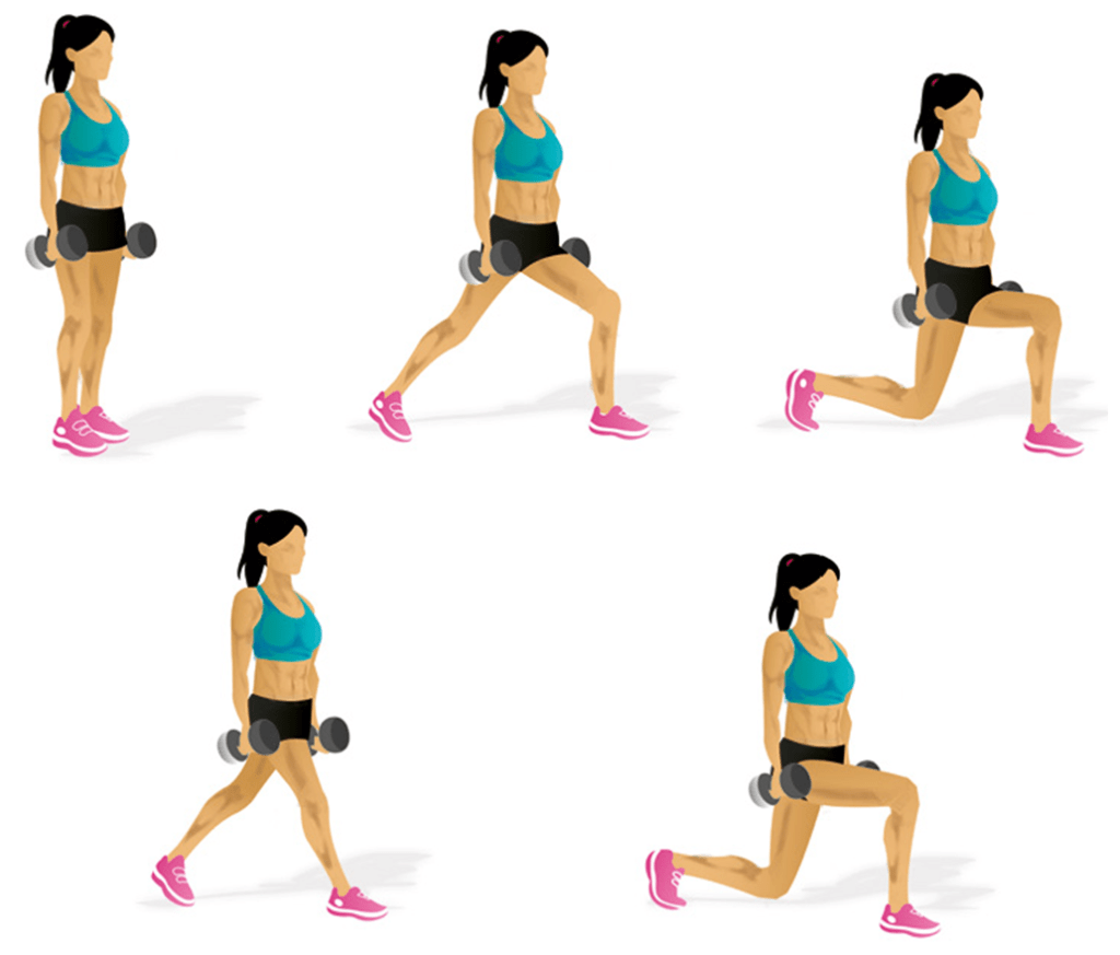 Walking Lunges Main muscle: quadriceps
