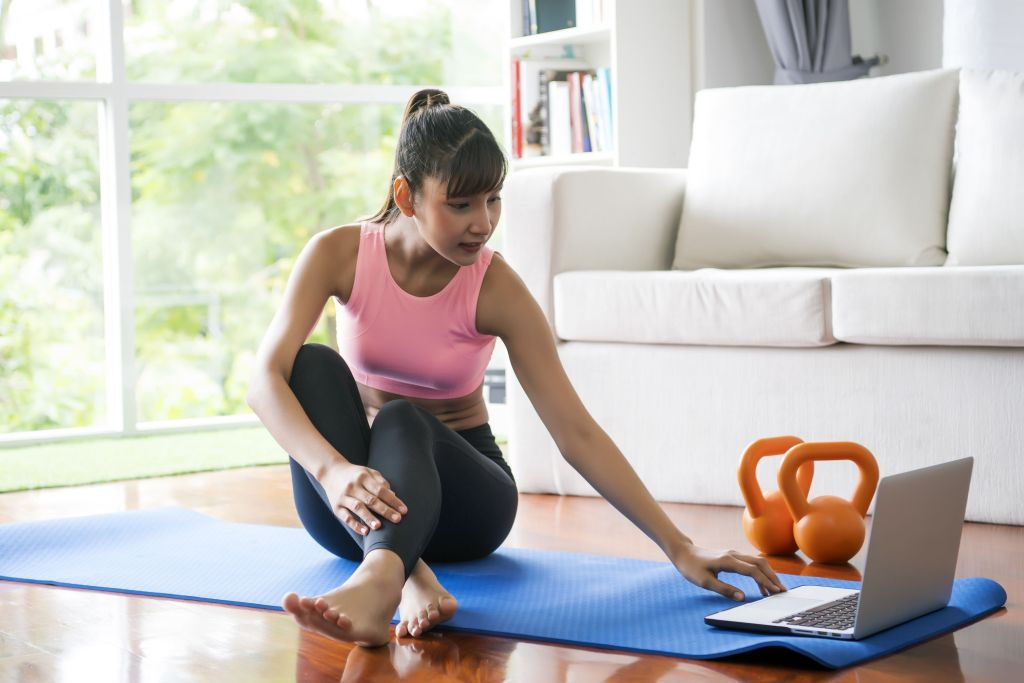 At-Home Workout Stability Exercise