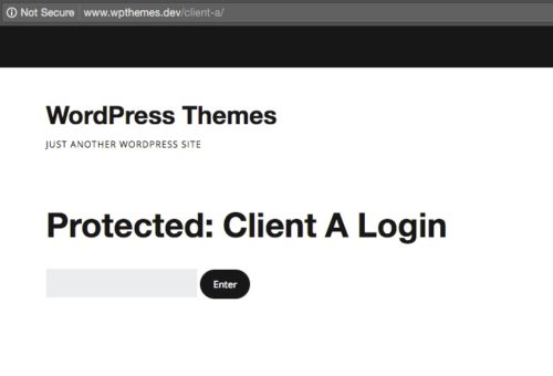 Creating Password Protected Pages and Areas in WordPress