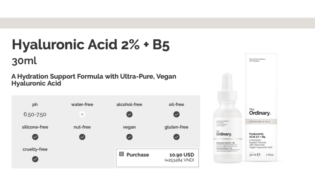 The Ordinary Hyaluronic