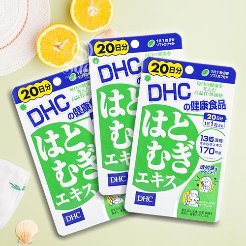 Hình ảnh 3 gói viên uống DHC trắng da