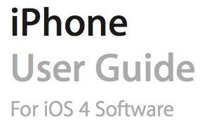 Official iPhone 4 User Guide/Manual for iOS4