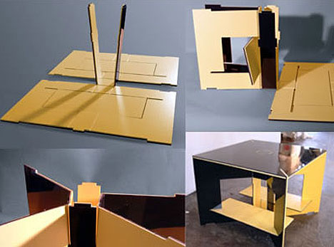 Creative Flat Pack Fold Old Table