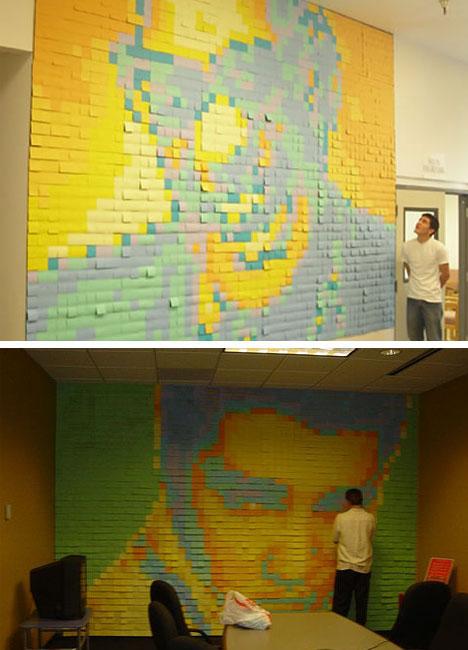 Famous People Post It Mural Art