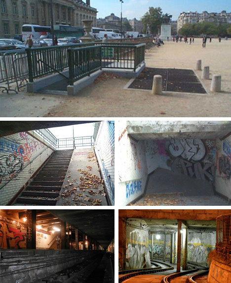 Paris France Abandoned Metro Subway Stations