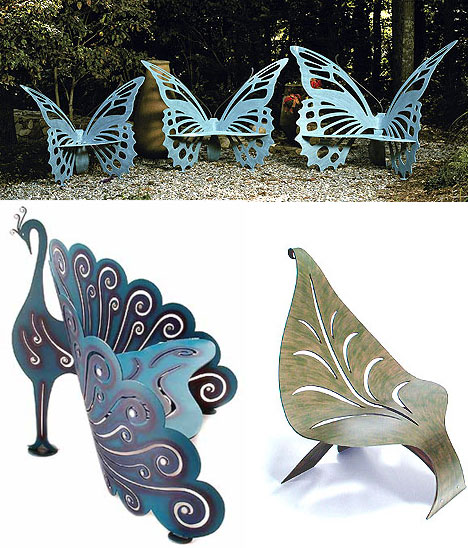 unusual garden chair human touch costco modern fantasy yard 23 magical furniture items urbanist butterfly benches peacock bench leaf