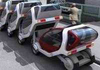 Stackable Futuristic Public Transit Cars