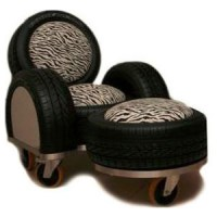 Used Tires: Recycled Tire Rubber Furniture, Art & Design ...