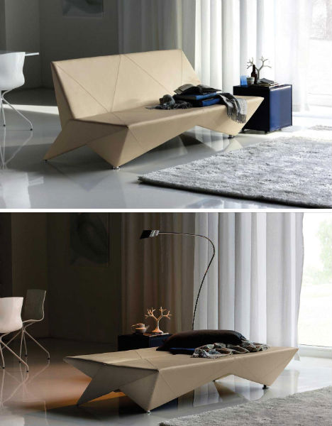 folding chair into bed leather club chairs for sale unfolding interior design: origami-inspired furniture | urbanist