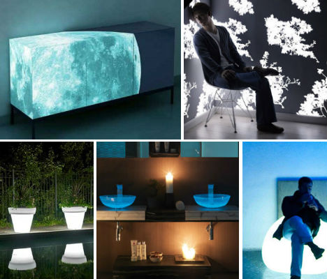 glow-in-the-dark home furniture lights up nights