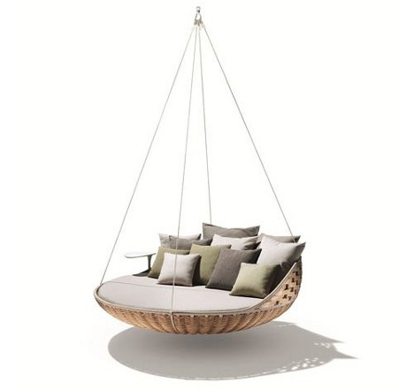 hanging chair swing leather desk chairs nest rests dynamic duo of outdoor lounging urbanist for