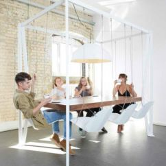 Volcanic Hanging Chair Rustic Lounge Swinging Times: 13 Stylish & Fun Indoor Swings | Urbanist
