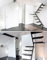 Steps to Saving Space 15 Compact Stair Designs for Lofts ...