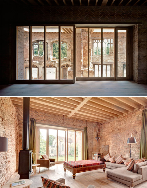 Modern Castle Interior : modern, castle, interior, Contemporary, House, Inserted, Crumbling, Castle, Ruins, Urbanist