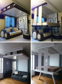 LiftBed & BedUp: 2 Space-Saving Beds Stored on Ceilings ...