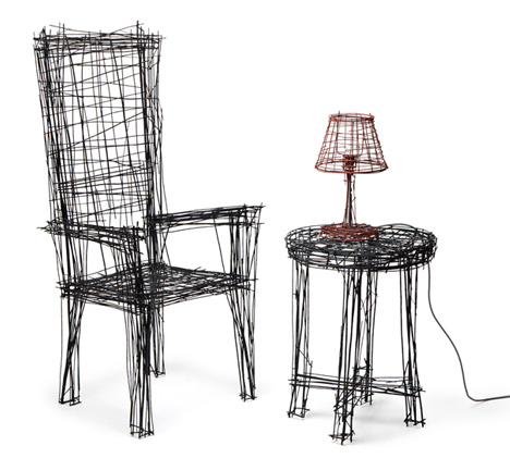 Trippy Furniture That Looks Like 2D Sketches
