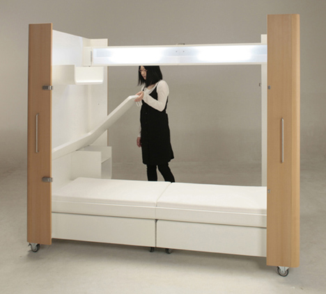fold out chair beds travel high seat argos rooms on wheels: mobile kitchen, bedroom & office spaces | urbanist