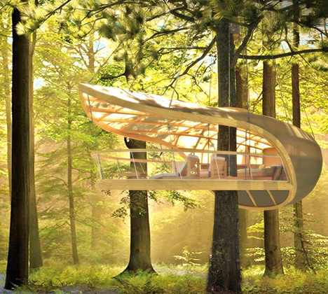 Hanging Hotel Camp In A Trunk Friendly Tree House Retreat Urbanist