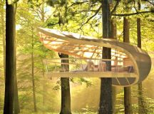 Hanging Hotel: Camp in a Trunk-Friendly Tree House Retreat ...