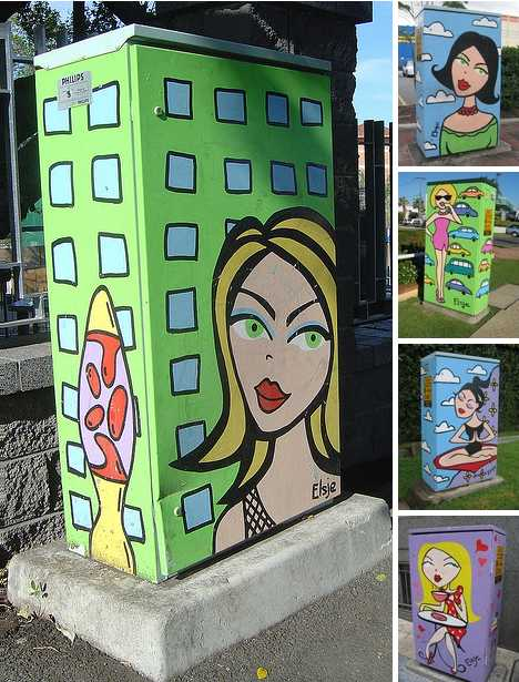 Brisbane Elsje Downes traffic light signal box art