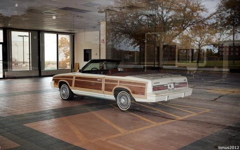 abandoned LeBaron convertible Chicago car dealership