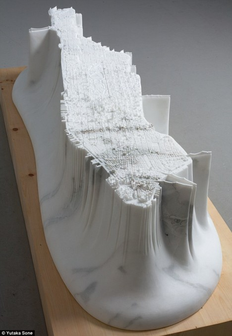 More Map Art 27 Cool Cartographic Sculptures  Drawings