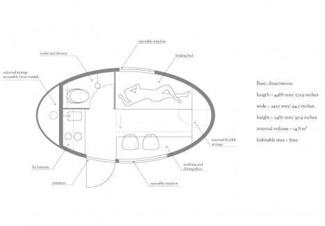 Eco Capsule: Mobile Grid-Free Home Harnesses Sun, Wind