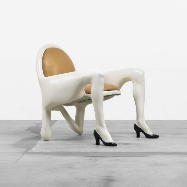 high chair wooden legs lumbar support figurative furniture: 15 designs with life of their own   urbanist