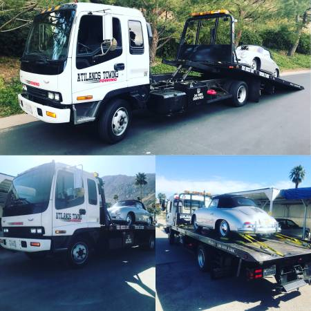 Forklift deliveries flat bed towing 24/7 (Sanbernardino)