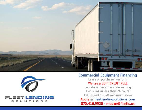 Truck, Trailer, AG & Construction Equipment Financing (Northwest Ok)