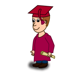 student clipart clip comic graduation graduate animated characters graduated cartoon character education toga vector university college domain male graduating cliparts