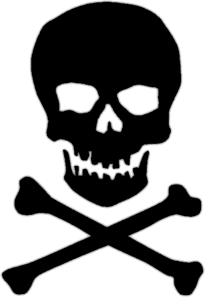 Skull And Crossbones Clip Art Free : skull, crossbones, Skull, Crossbone, Clipart