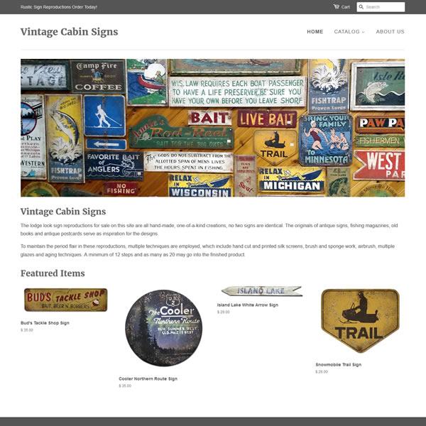 Vintage-Cabin-Signs