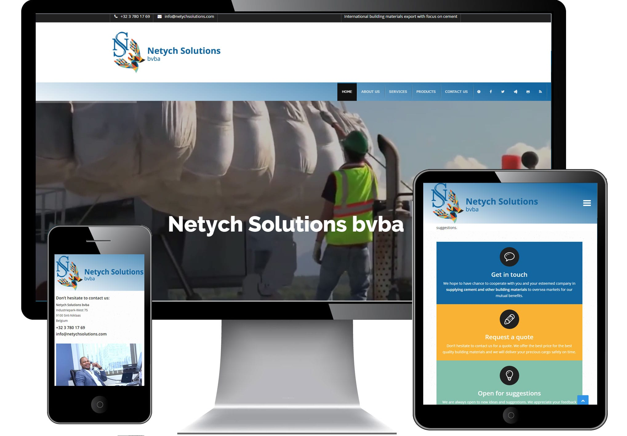 responsive site Netych Solutions-bvba