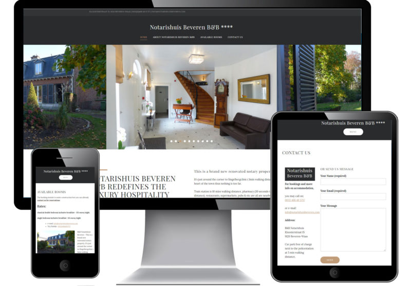 Responsive website voor Notarishuis Beveren B&B