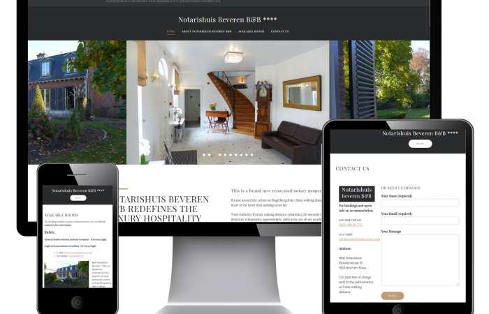 Responsive website voor Notarishuis Beveren B&B