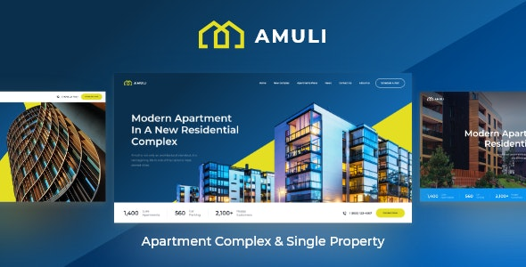 Amuli | Single & Multiple Property Real Estate WordPress Theme 1